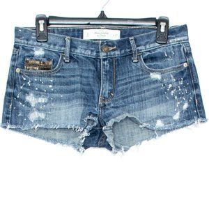 Abercrombie Fitch Shorts Jeans Cut Offs 4 27 BW